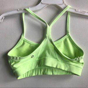 lululemon athletica Intimates & Sleepwear - LULULEMON neon green energy bra 4 bright